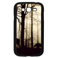 Forest Fog Hirsch Wild Boars Samsung Galaxy Grand DUOS I9082 Case (Black)