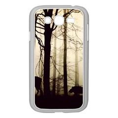 Forest Fog Hirsch Wild Boars Samsung Galaxy Grand DUOS I9082 Case (White)