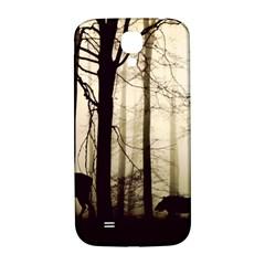 Forest Fog Hirsch Wild Boars Samsung Galaxy S4 I9500/I9505  Hardshell Back Case