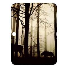 Forest Fog Hirsch Wild Boars Samsung Galaxy Tab 3 (10.1 ) P5200 Hardshell Case