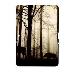 Forest Fog Hirsch Wild Boars Samsung Galaxy Tab 2 (10.1 ) P5100 Hardshell Case
