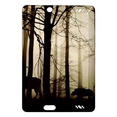 Forest Fog Hirsch Wild Boars Amazon Kindle Fire HD (2013) Hardshell Case