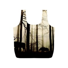 Forest Fog Hirsch Wild Boars Full Print Recycle Bags (S)