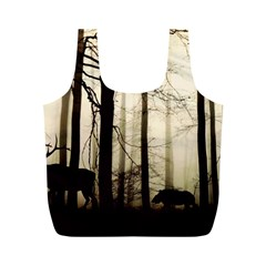 Forest Fog Hirsch Wild Boars Full Print Recycle Bags (M)