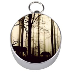 Forest Fog Hirsch Wild Boars Silver Compasses