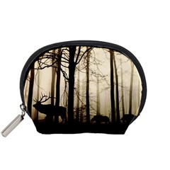Forest Fog Hirsch Wild Boars Accessory Pouches (Small)
