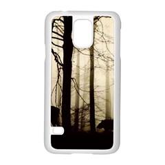 Forest Fog Hirsch Wild Boars Samsung Galaxy S5 Case (White)