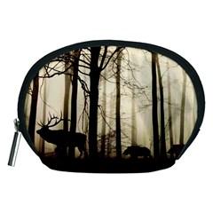 Forest Fog Hirsch Wild Boars Accessory Pouches (Medium)