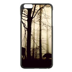 Forest Fog Hirsch Wild Boars Apple iPhone 6 Plus/6S Plus Black Enamel Case