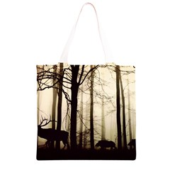 Forest Fog Hirsch Wild Boars Grocery Light Tote Bag