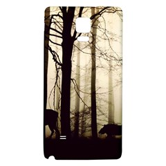 Forest Fog Hirsch Wild Boars Galaxy Note 4 Back Case