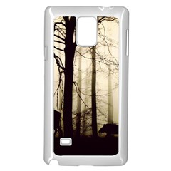 Forest Fog Hirsch Wild Boars Samsung Galaxy Note 4 Case (White)