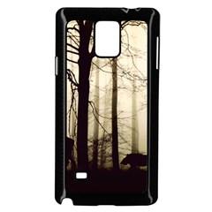 Forest Fog Hirsch Wild Boars Samsung Galaxy Note 4 Case (Black)