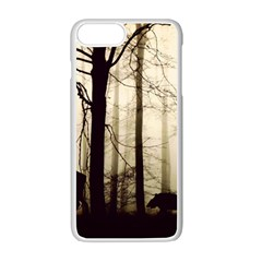 Forest Fog Hirsch Wild Boars Apple iPhone 7 Plus White Seamless Case
