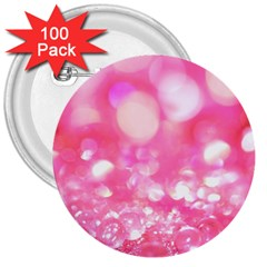 Pink diamond  3  Buttons (100 pack)