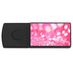 Pink diamond  USB Flash Drive Rectangular (1 GB)