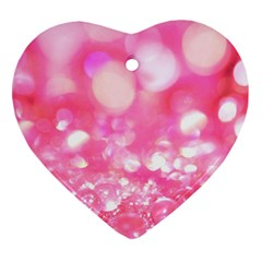 Pink diamond  Heart Ornament (2 Sides)