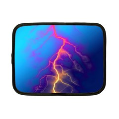 Lightning colors, blue sky, pink orange yellow Netbook Case (Small)