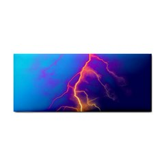 Lightning colors, blue sky, pink orange yellow Cosmetic Storage Cases