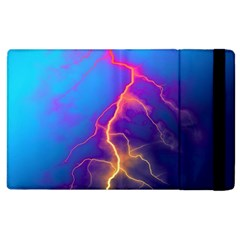 Lightning colors, blue sky, pink orange yellow Apple iPad 2 Flip Case
