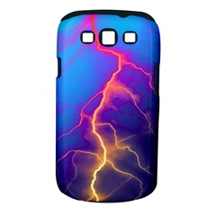 Lightning colors, blue sky, pink orange yellow Samsung Galaxy S III Classic Hardshell Case (PC+Silicone)