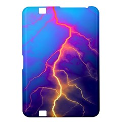 Lightning colors, blue sky, pink orange yellow Kindle Fire HD 8.9