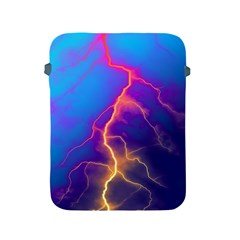Lightning colors, blue sky, pink orange yellow Apple iPad 2/3/4 Protective Soft Cases