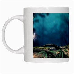 Mysterious fantasy nature  White Mugs