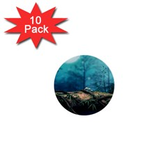 Mysterious fantasy nature  1  Mini Buttons (10 pack)