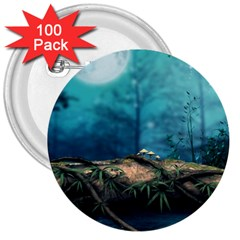 Mysterious fantasy nature  3  Buttons (100 pack)
