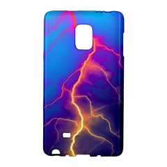Lightning colors, blue sky, pink orange yellow Galaxy Note Edge