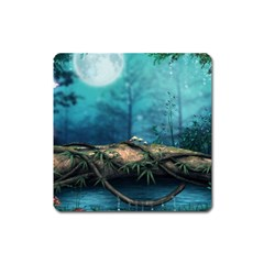 Mysterious fantasy nature  Square Magnet