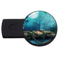 Mysterious fantasy nature  USB Flash Drive Round (1 GB)