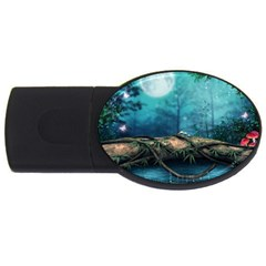 Mysterious fantasy nature  USB Flash Drive Oval (2 GB)