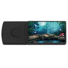 Mysterious fantasy nature  USB Flash Drive Rectangular (2 GB)