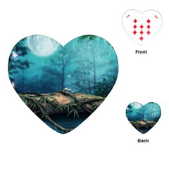 Mysterious fantasy nature  Playing Cards (Heart)