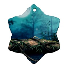 Mysterious fantasy nature  Snowflake Ornament (2-Side)