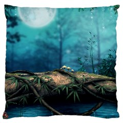 Mysterious fantasy nature  Large Cushion Case (One Side)