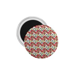 Gorgeous Red Flower Pattern 1.75  Magnets