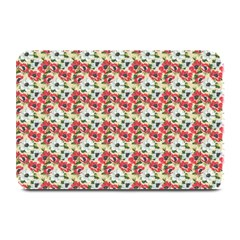 Gorgeous Red Flower Pattern Plate Mats