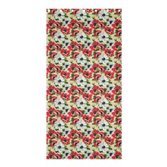 Gorgeous Red Flower Pattern Shower Curtain 36  x 72  (Stall)