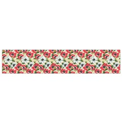Gorgeous Red Flower Pattern Flano Scarf (Small)