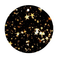 Golden stars in the sky Ornament (Round)