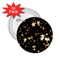 Golden stars in the sky 2.25  Buttons (10 pack)