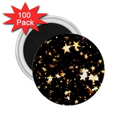 Golden stars in the sky 2.25  Magnets (100 pack)