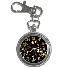 Golden stars in the sky Key Chain Watches