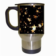Golden stars in the sky Travel Mugs (White)