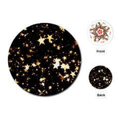 Golden stars in the sky Playing Cards (Round)