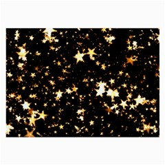 Golden stars in the sky Large Glasses Cloth (2-Side)