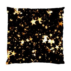 Golden stars in the sky Standard Cushion Case (One Side)
